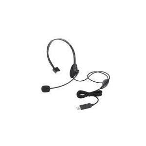 USBヘッドセット(片耳小型オーバーヘッドタイプ)  HS-HP21UBK エレコム e-plaisir-shop