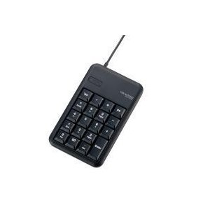 2ポートUSB2.0ハブ付きコンパクトUSBテンキーパッド TK-TCM014BK エレコム|e-plaisir-shop