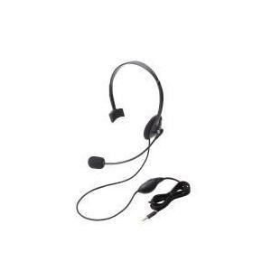 ヘッドセット(4極片耳オーバーヘッド)  HS-HP21TBK エレコム e-plaisir-shop