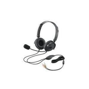 ヘッドセット(両耳オーバーヘッド)  HS-HP20BK エレコム e-plaisir-shop