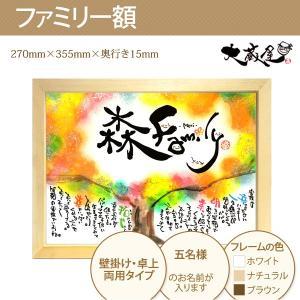 結婚祝い 出産祝い 新築祝い 記念 ギフト メッセージ 名入れ ファミリー額・M 大蔵|e-pre