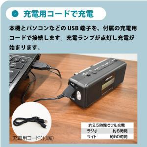AudioComm 手回しラジオライト|RAD-M799N 07-3799 OHM オーム電機|e-price|04