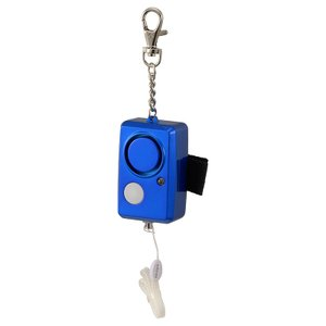 防犯ブザー LEDライト付 大音量95dB ブルー_OSE-JCA226-A 08-0961 オーム...
