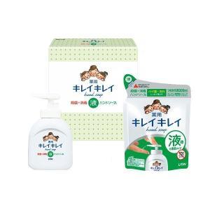 引っ越し 挨拶 品物 洗剤ギフト ライオン キレイキレイ ギフトセット (LBH6P)薬用ハンドソープ・詰め替え  (21s0495-066)|e-prom
