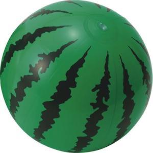 すいかビーチボール (1147-13) 定番のすいか柄ビーチボール。(20s4815-046)
