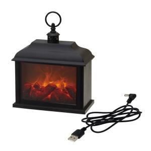 イルミネ暖炉M 【PE660000620】  寒い冬にぴったりな炎のゆらぎをLEDで再現