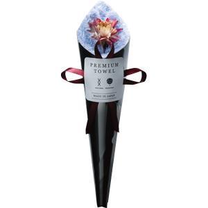 ハンドタオル花束 ブルー (FL12BK)  ドライフラワーと吸水タオルで作った花束 e-prom