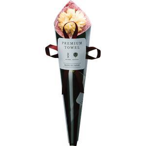 ハンドタオル花束 ピンク (FL12BK)  ドライフラワーと吸水タオルで作った花束 e-prom