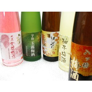 京梅酒飲み比べ梅酒セット180ml×5本(株)北川本家 京都の酒 伏見|e-sakedot
