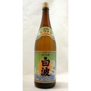白波 芋焼酎25度 1800ml 「鹿児島」薩摩酒造(株)|e-sakedot