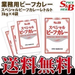 スペシャルビーフカレーレトルト3kg×4袋 S&B SB エスビー食品|e-sbfoods