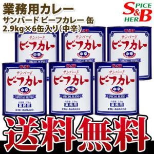 サンバードビーフカレー缶中辛2.9kg×6缶入り S&B SB エスビー食品|e-sbfoods