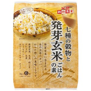 穀物充実七種の穀物と発芽玄米ごはんの素 180g(30g×6袋)|e-sbfoods