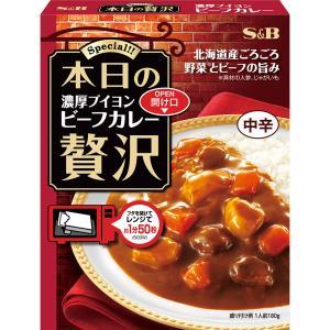 本日の贅沢 濃厚ブイヨンビーフカレー 中辛 180g S&B SB エスビー食品|e-sbfoods