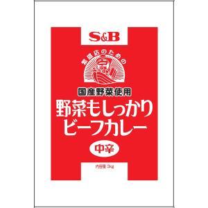 エスビー 野菜もしっかりビーフカレー中辛3kg(国産野菜使用)×4袋 業務用 S&B SB|e-sbfoods