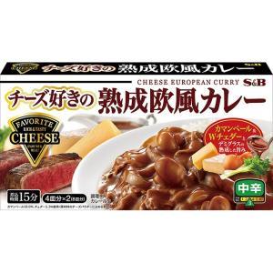 チーズ好きの熟成欧風カレー 中辛 S&B SB エスビー食品|e-sbfoods