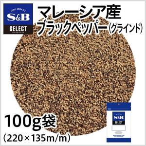 セレクトマレーシア産ブラックペッパー グラインド 袋100g セレクトスパイス 黒胡椒 スパイス 調味料 カレー 業務用 SB S&B エスビー食品|e-sbfoods