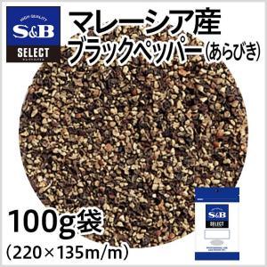 セレクトマレーシア産ブラックペッパー あらびき 袋100g セレクトスパイス 黒胡椒 スパイス 調味料 カレー 業務用 SB S&B エスビー食品|e-sbfoods