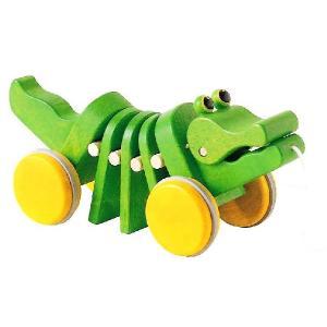 木のおもちゃ 「PLAN TOYS」 Plan Preschoolシリーズ 「ダンシングアリゲーター」|e-sekaiya