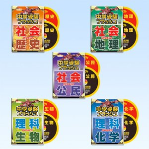 中学受験フラッシュ 「理科(生物・化学)」「社会(歴史・地理・公民)」5教科セット(DVD5枚&CD5枚)|e-sekaiya