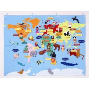 布製 世界地図(90×120cm) e-sekaiya