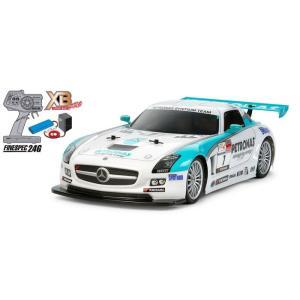 ラジコン(完成品)  1/10RC XB PETRONAS SYNTIUM メルセデス・ベンツ SLS AMG GT3(TT-01シャーシ TYPE-E)|e-sekaiya