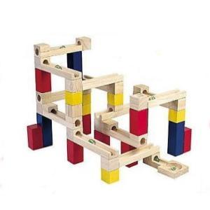 木製玩具 ビー玉積み木転がし 54|e-sekaiya