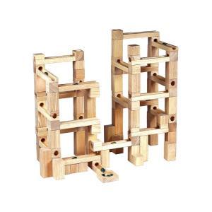 木製玩具 ビー玉積み木転がし 100|e-sekaiya
