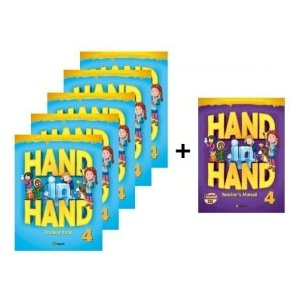 小学生向け総合英語コースブック Hand in Hand 4 Student Book 5冊セット + Free Teacher's Manual|e-sekaiya