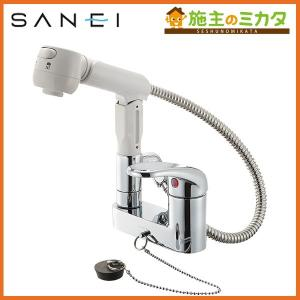 三栄水栓 K37100VR-13 シングルスプレー混合栓