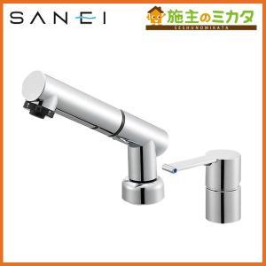 三栄水栓 K37510JVZ-13 シングルスプレー混合栓