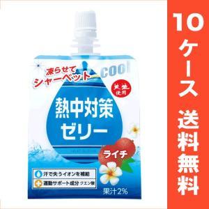 熱中対策ゼリー(ソフトパウチ) ライチ味 10ケース /  入数(150g×24個 )×10ケース【送料無料】【E区分】|e-shop-selection
