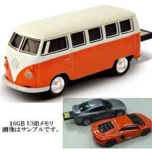 車型USBフラッシュメモリ 16GB フォルクスワーゲン クラシカルバス オレンジ ORANGE VOLKSWAGEN VW USBメモリ 16ギガ USB MEMORY 16ギガバイト|e-shop-tsukasaki