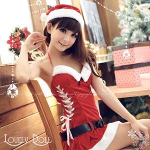 コスプレ サンタガールのワンピース コスチューム大人用 衣装 クリスマス|e-sitagi