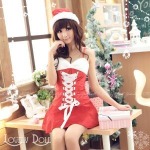 コスプレ サンタガールのワンピース コスチューム 大人用 衣装 クリスマス|e-sitagi