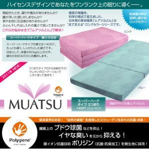 受注生産 西川 ムアツ布団 フローラル ポリジン加工 ダブル ピンク ブルー 140NT e-sleep-style