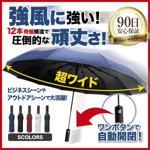 折りたたみ傘 メンズ 大きい 折り畳み傘 頑丈 男 傘 自動 開閉 ビジネス e-sma