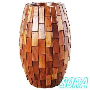 鼓型プランター小(木重) 30*65cm e-sora