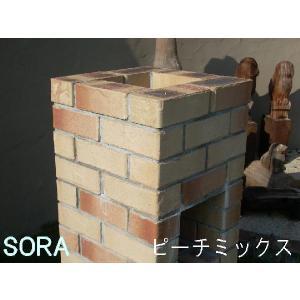 積レンガ ピーチミックス 穴 12枚セット|e-sora