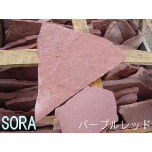 乱形石 パープルレッド 0.3m2セット|e-sora