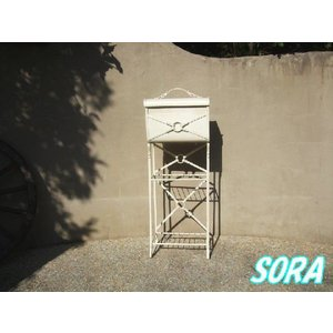 メールボックス スチールレザー WH|e-sora