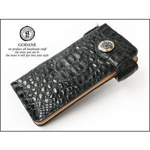 GODANE カイマンクロコ ロングウォレット 925805SD BK