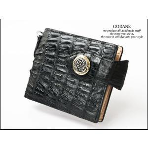 GODANE カイマンクロコ ハーフウォレット 925809SD BK