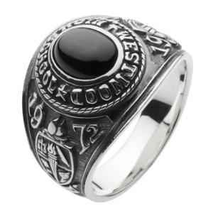 カレッジリング メンズ 指輪 シルバーリング シルバーアクセサリー クリスマス プレゼント|e-standard