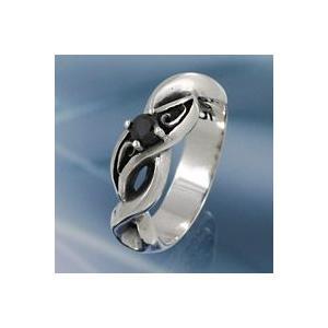 シルバーアクセサリー シルバーリング 指輪メンズ シルバー925リング ブラックストーン アラベスクリング 男性用|e-standard