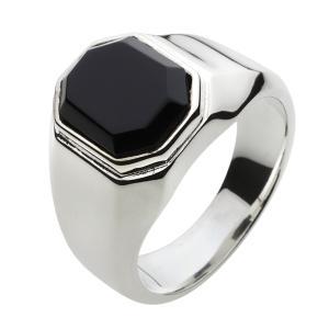 シルバーリング メンズ オニキス 指輪 メンズ シルバーアクセサリー クリスマス プレゼント|e-standard