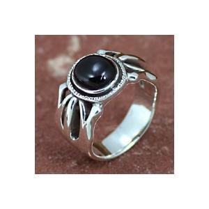 シルバーアクセサリー シルバーリング 指輪メンズ オニキスリング 指輪シルバー925リング 男性用 シルバーアクセ|e-standard