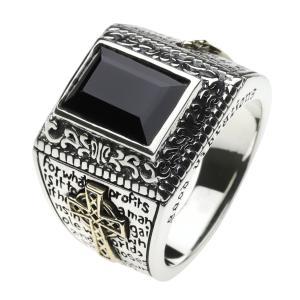シルバーアクセサリー マリアリング 指輪 メンズ ブラック|e-standard