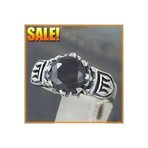 シルバーアクセサリー シルバーリング 指輪メンズ ブラックジルコニア cz 指輪シルバー925リング|e-standard