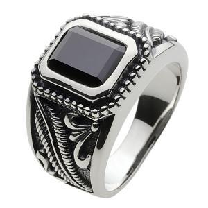 シルバーリング 指輪メンズ オニキスリング|e-standard